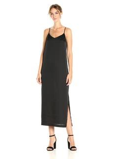 Kensie Women's Shiny Polyester Slip Maxi Dress  L