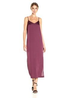 kensie Women's Shiny Polyester Slip Maxi Dress  M