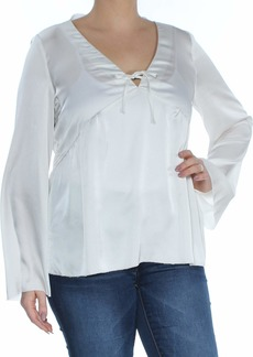 kensie Women's Shiny Polyester Top  L