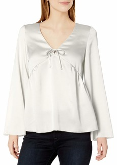 kensie Women's Shiny Polyester Top  M