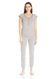 Kensie Women's Short Sleeve Novelty Knit Pajama Set