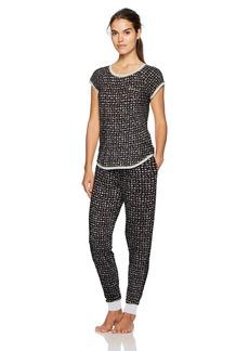 kensie Women's Short Sleeve Novelty Pj Set  XS