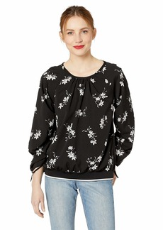 kensie Women's Simply Floral Top  M