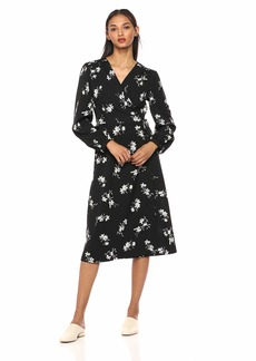 kensie Women's Simply Floral Wrap Dress  S