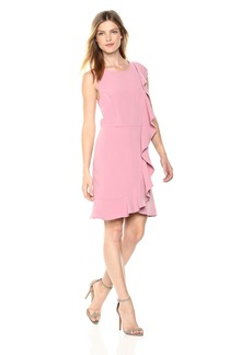 kensie Women's Sleek Stretch Crepe Dress  XL