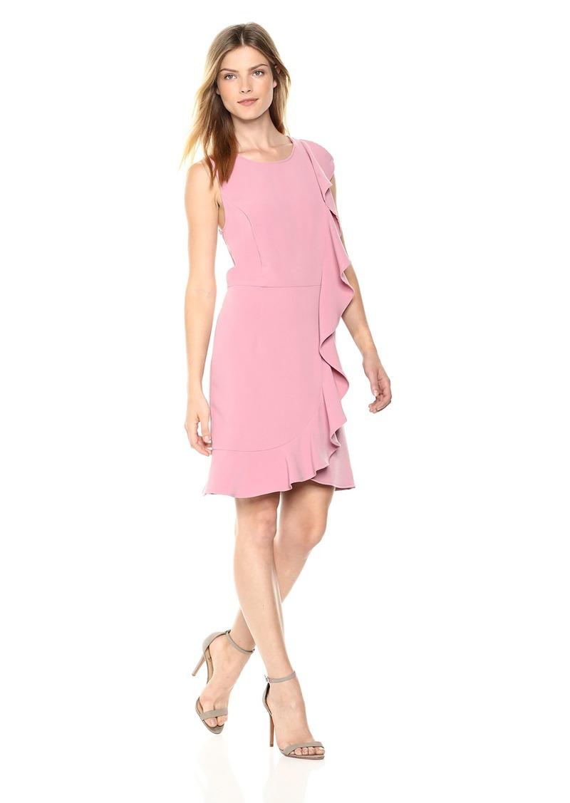 kensie Women's Sleek Stretch Crepe Dress  XL