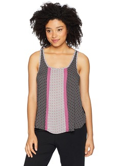 kensie Women's Sleep Tank Top Black Diamond geo XS