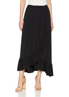 kensie Women's Slinky Knit Ruffle Skirt  M