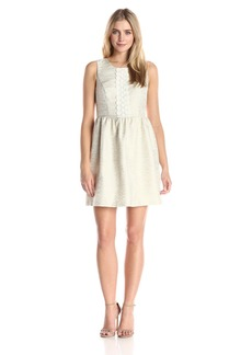 Kensie Women's Slubby Jacquard Dress