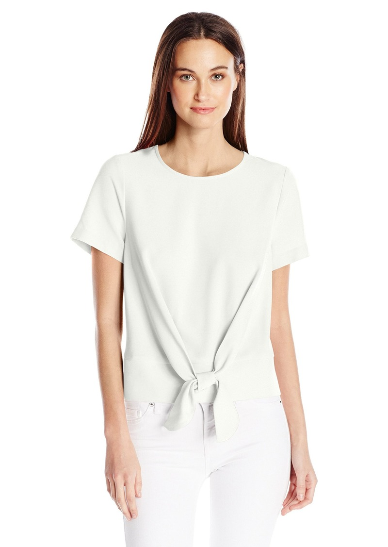 kensie Women's Smooth Stretch Cepe Top  L