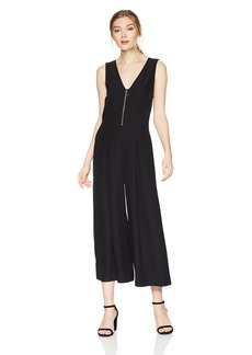 kensie Women's Smooth Stretch Crepe Jumpsuit  XL