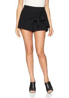 kensie Women's Smooth Stretch Crepe Shorts  L