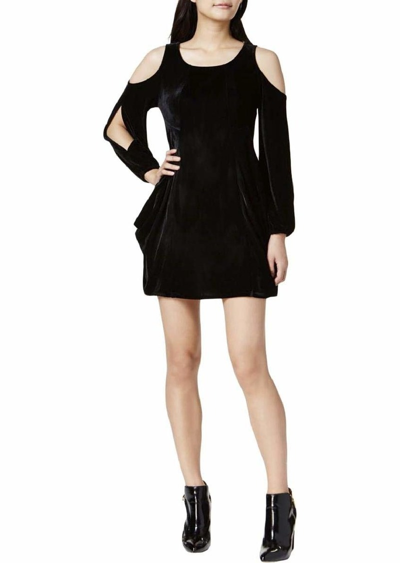kensie Women's Smooth Velvet Drapey Dress  XS