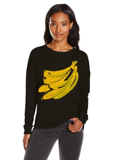 kensie Women's Soft Cotton-Blend Sweater with Banana