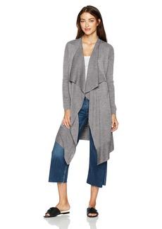 kensie Women's Soft Open Waterfall Drape Sweater Cardigan  M