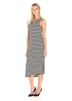 kensie Women's Soft Striped Ponte Dress  M