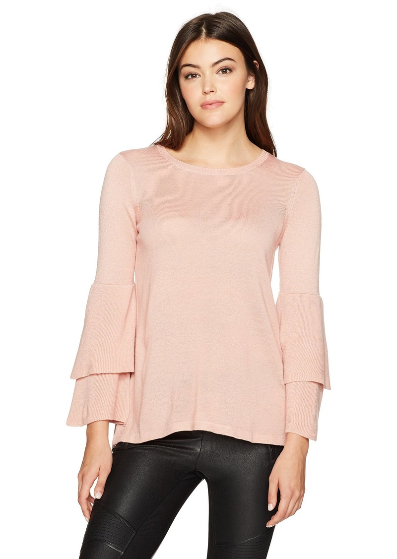 a3727f940 Kensie kensie Women's Soft Sweater with Ruffle Sleeve XL | Sweaters