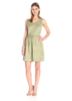 Kensie Women's Soft Textured Geo Dress
