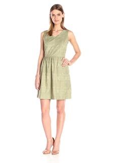 Kensie Women's Soft Textured Geo Dress