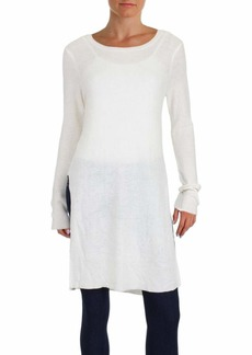 kensie Women's Soft Tunic Sweater with High Slits  M