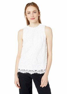 kensie Women's Spring Lace Top  XS