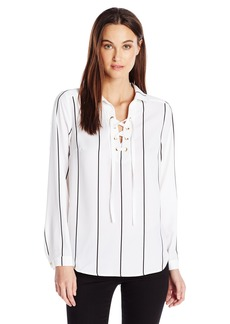 kensie Women's Straight Lines Top  M