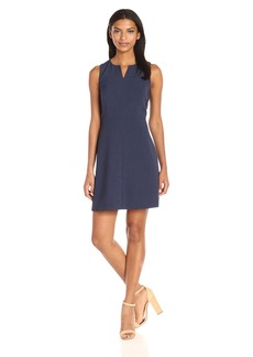 kensie Women's Heather Stretch Crepe Dress  XL