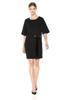 kensie Women's Stretch Crepe Tees Dress  L