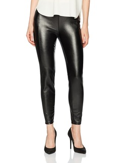 kensie Women's Stretch Faux Leather Pant  S