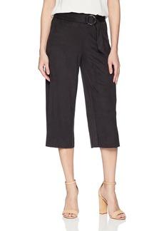 kensie Women's Stretch Suede Culotte Pants  L