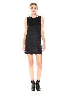 Kensie Women's Stretch Suede Shift Dress  M