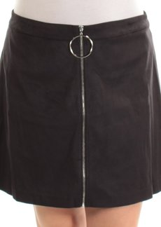 kensie Women's Stretch Suede Skirt  L