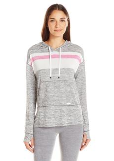 Kensie Women's Stripe Long Sleeve Hoodie  L