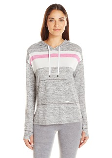 kensie Women's Stripe Long Sleeve Hoodie  M