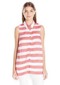 kensie Women's Stripe Rayon Top