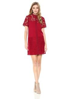 Kensie Women's Striped Floral Lace Dress  XL