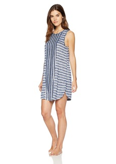 kensie Women's Striped Night Dress  L