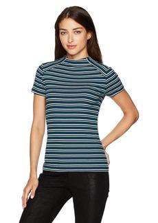 kensie Women's Striped Rib Top  M