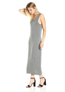 kensie Women's Subtle Slub Mixi Dress with Open Back  L