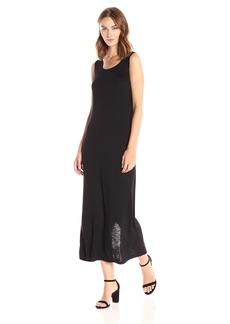 kensie Women's Subtle Slub Mixi Dress with Open Back  M