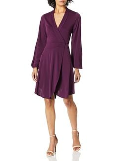 kensie Women's Sueded Jersey Knit Wrap Dress  M