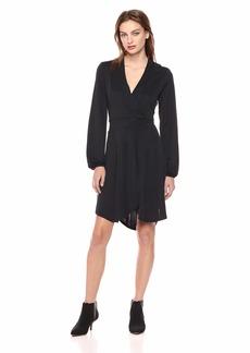 kensie Women's Sueded Jersey Knit Wrap Dress  XL
