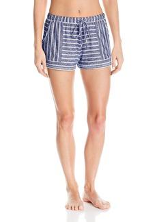 kensie Women's Sweater Striped Boxer Pajama Short  XS