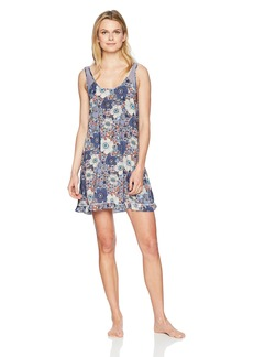 kensie Women's Tank Night Dress Floral Multi toss L
