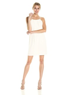 kensie Women's Texture Crepe Dress with Open Lace Back  M
