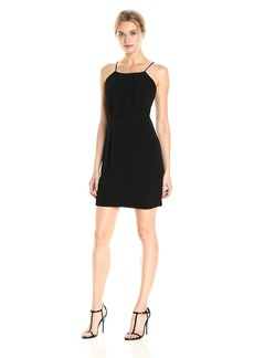 kensie Women's Texture Crepe Dress with Open Lace Back  XS