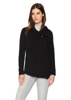 kensie Women's Textured Stretch Jacket  L