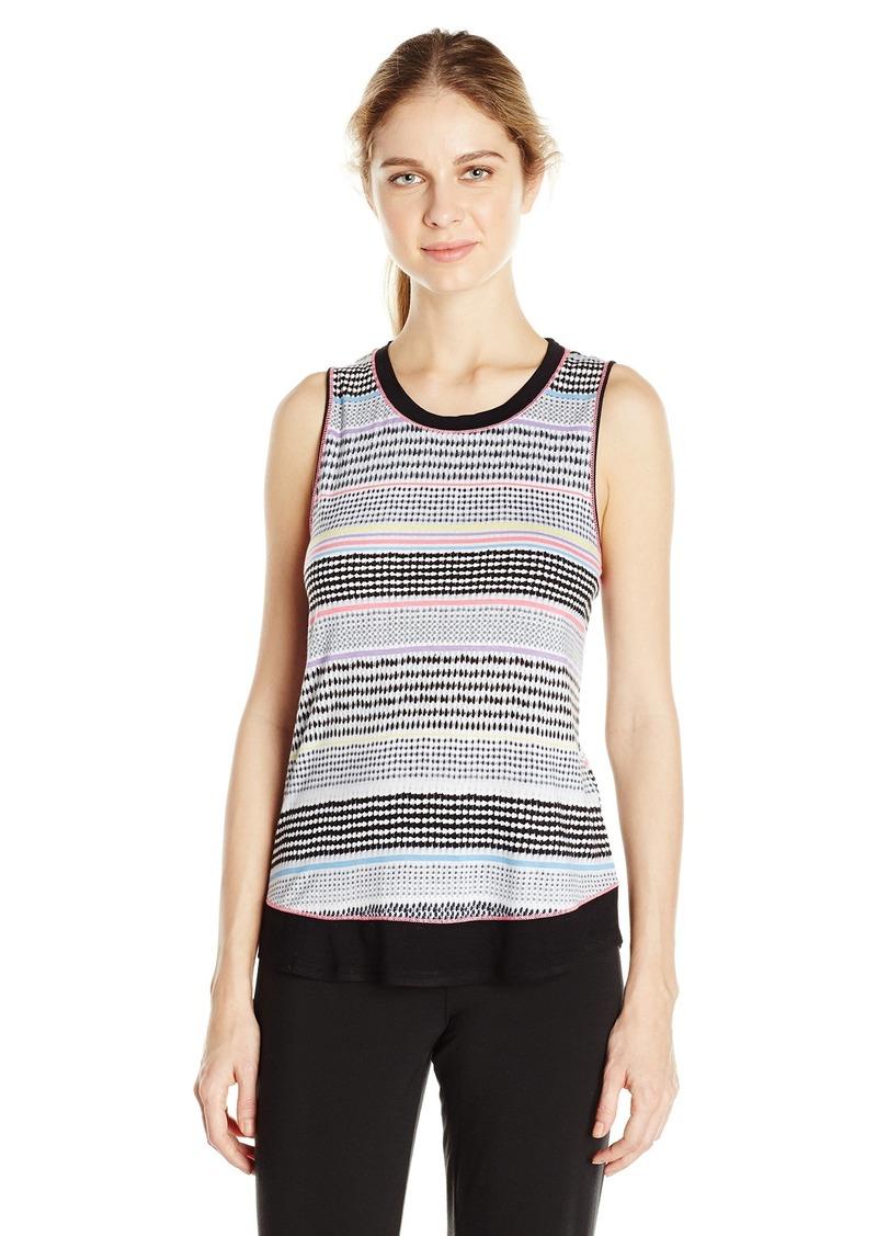 kensie Women's Textured Stripe Pajama Tank  M