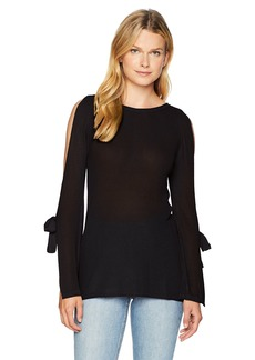 kensie Women's Textured Viscose Sweater  XS