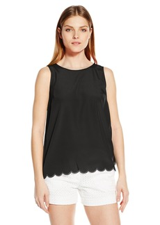 Kensie Women's Thick Soft Crepe Top